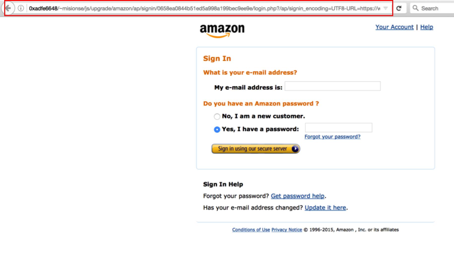 Amazon Phishing Site