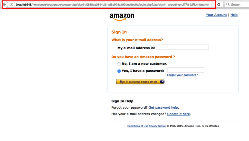 Amazon Phishing Site