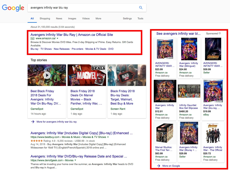 google-avengers-infinity-war-blu-ray-serp-screenshot
